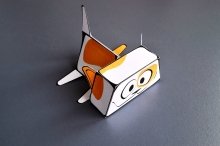 To make such a paper cat its very easy, need just download and print model of papercraft and follow the photo instructions