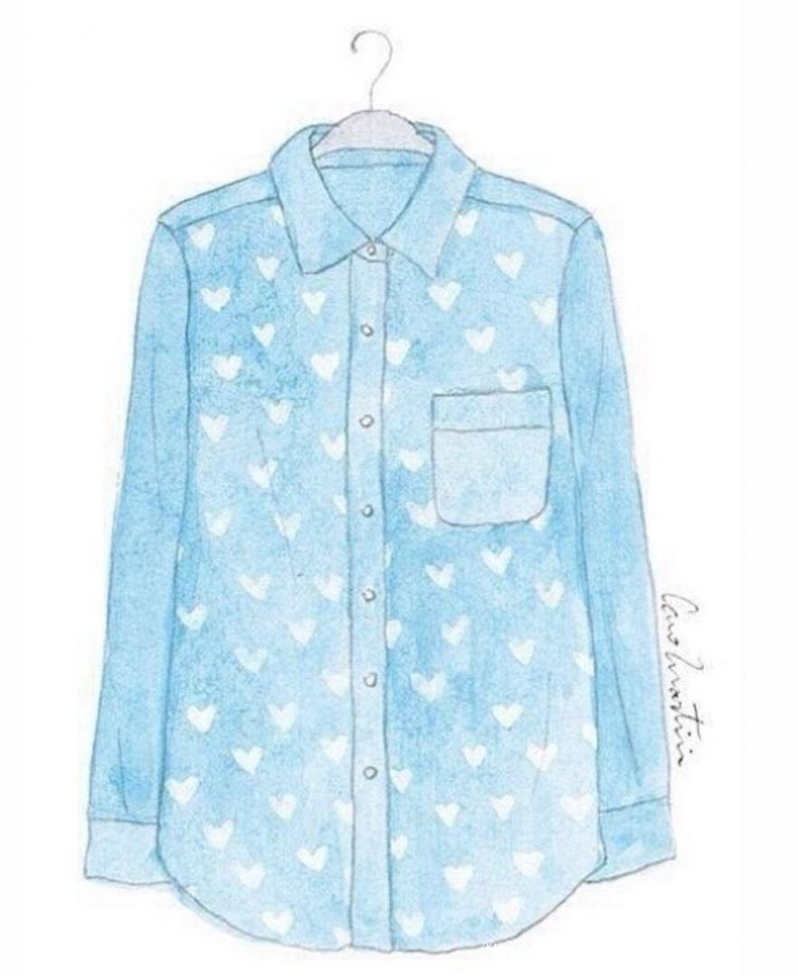 рисунок рубашки для альбома