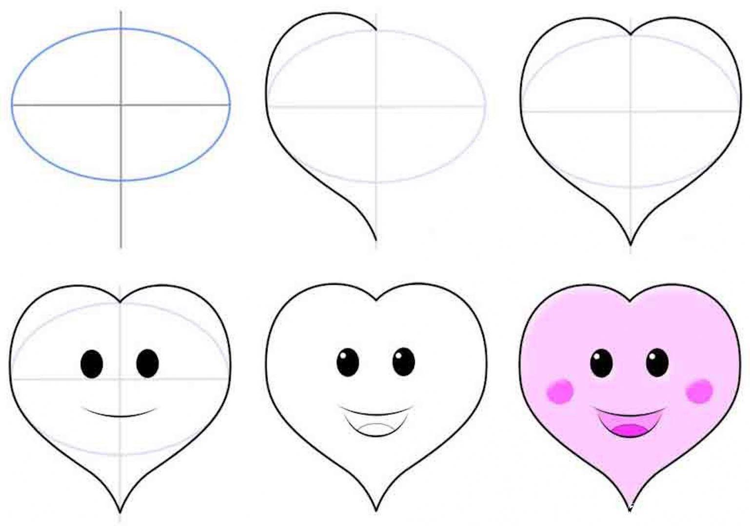 картинка милое сердце для скетчбука