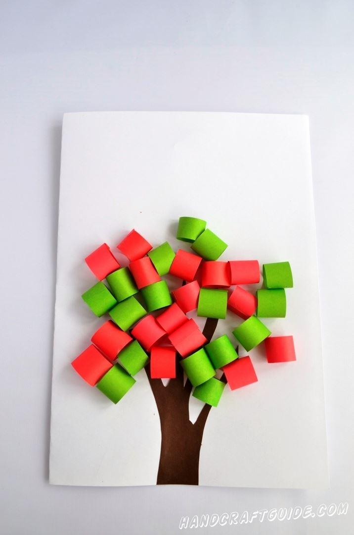 поделка из цветной бумаги дерево