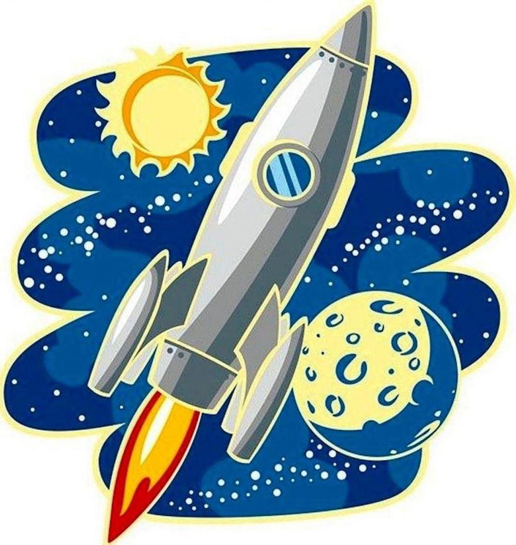 картинка ракета для рисования