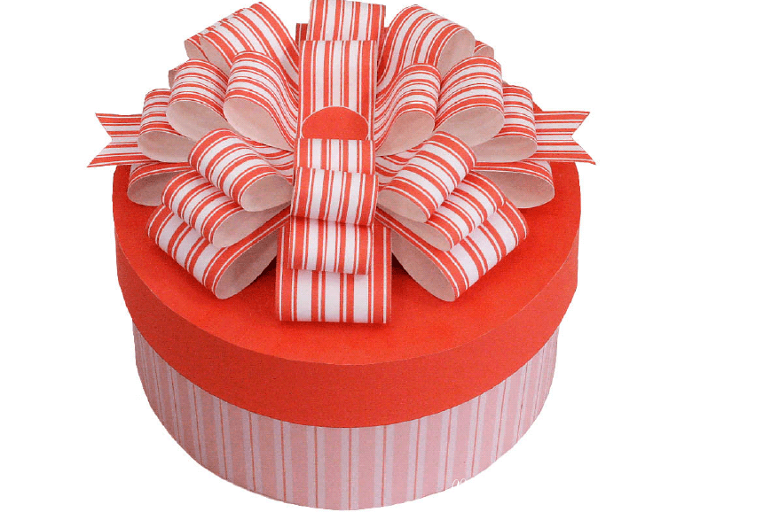 Gift Box Round Red