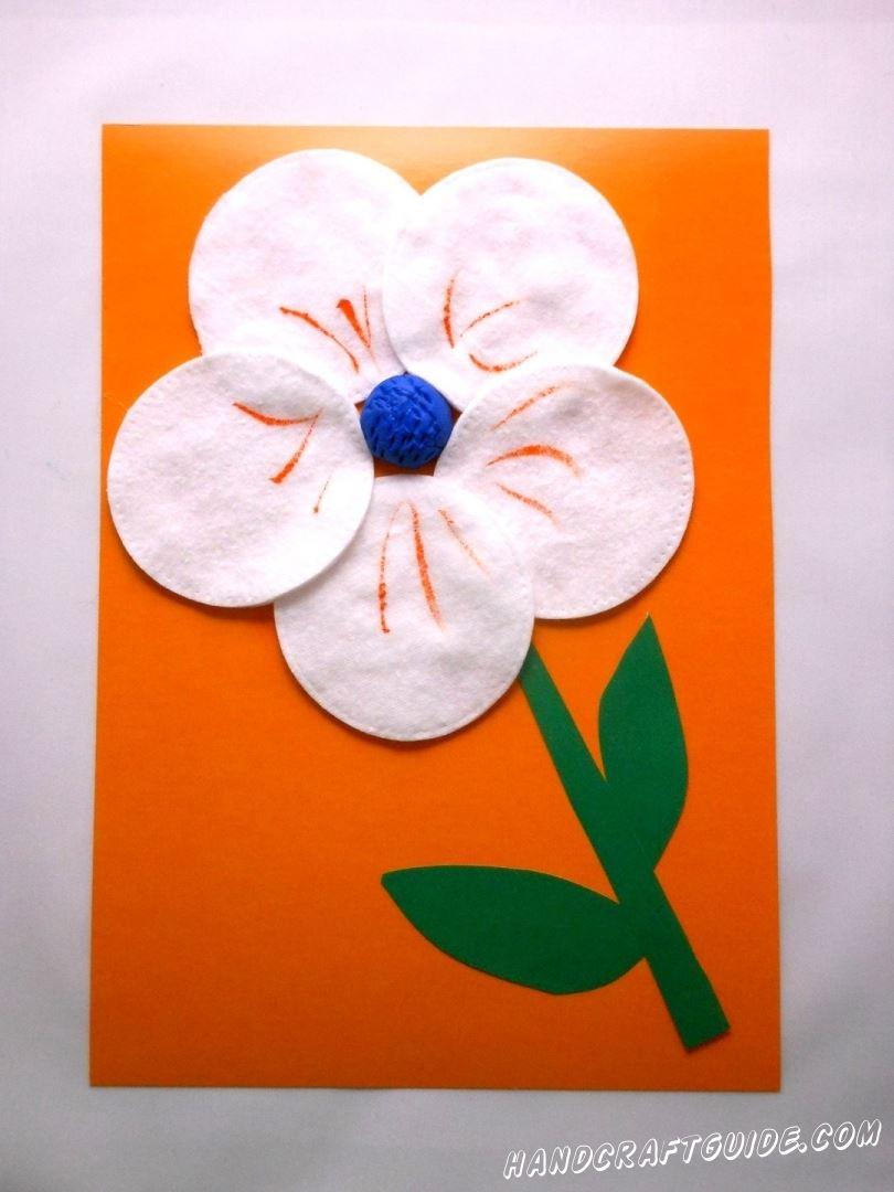 цветок из ватных дисков своими руками