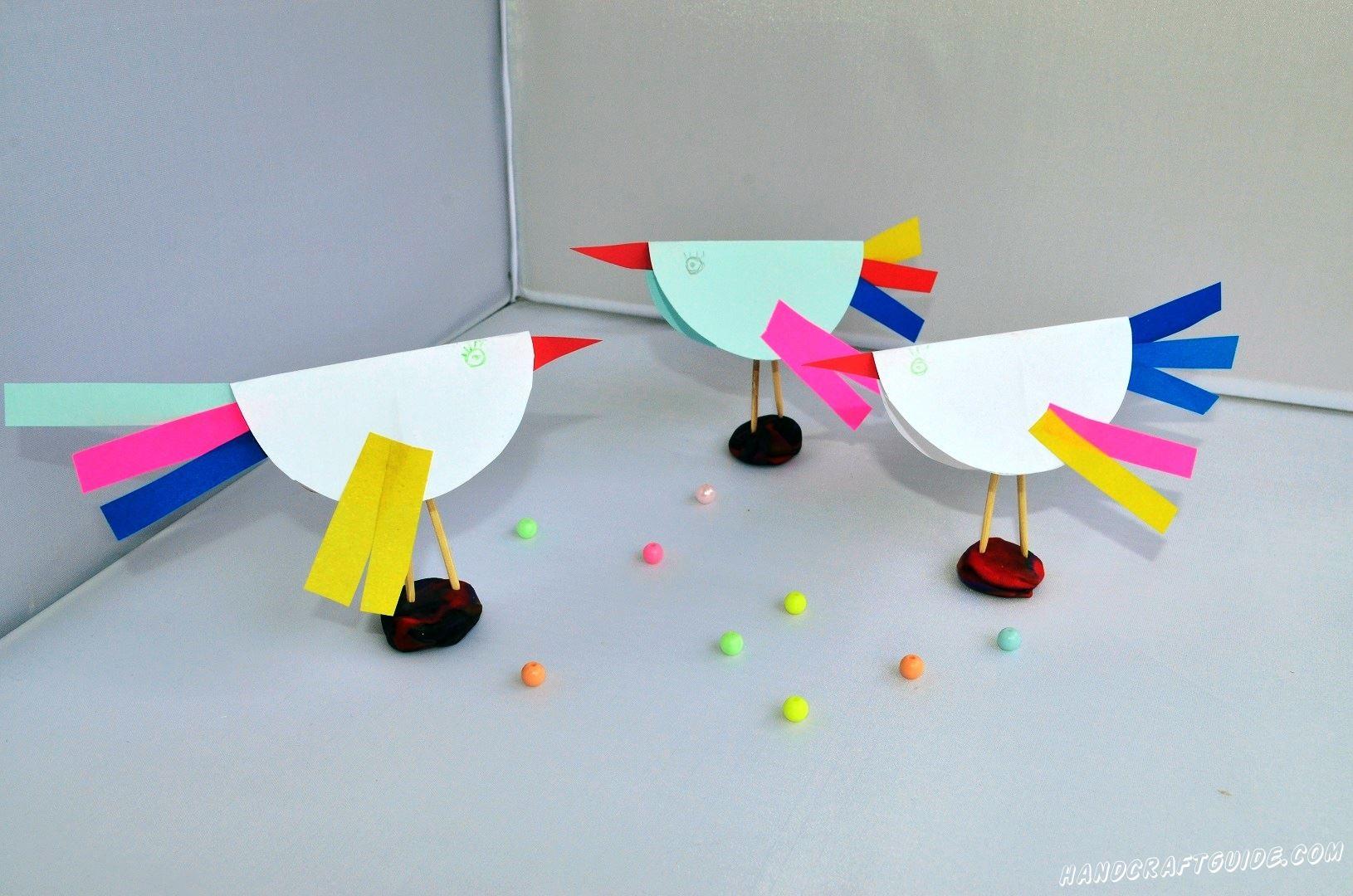 поделки из бумаги птицы