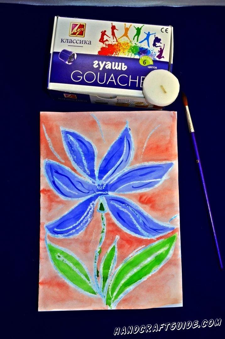 цветок своими руками рисунок