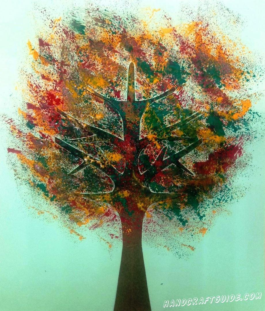 рисунок осеннее дерево