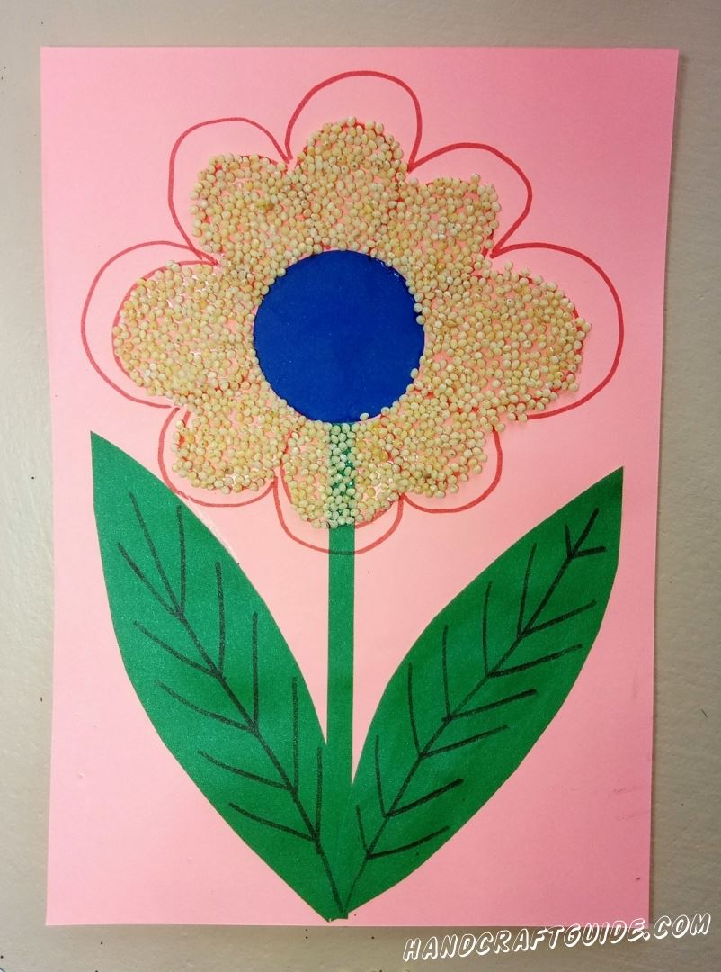 Цветок из пшена своими руками