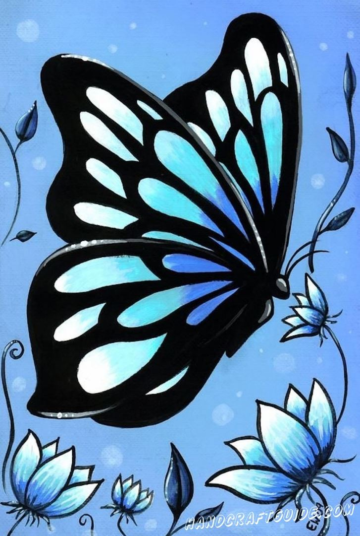 картинка бабочка для скетчбука