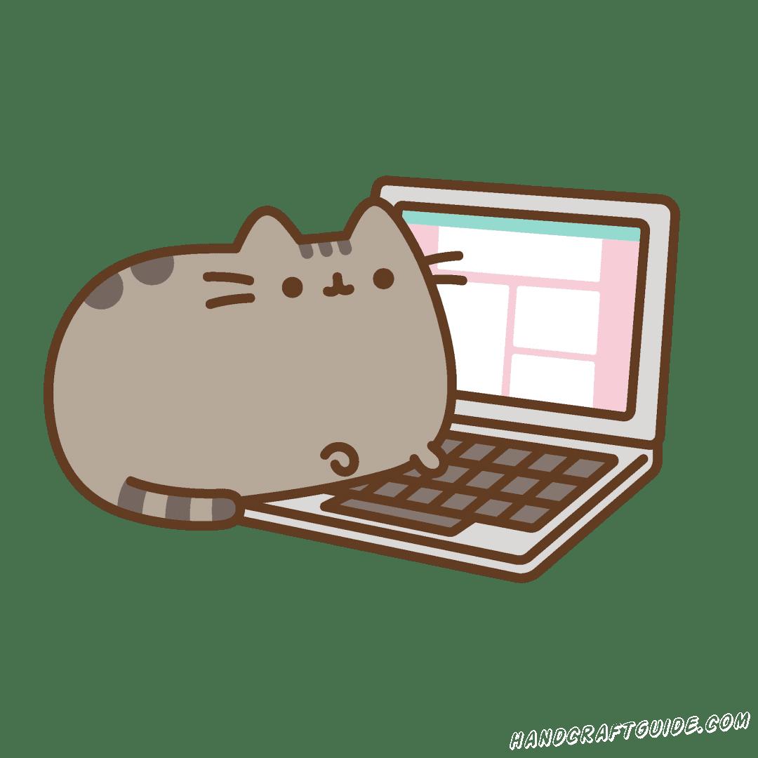 милый котик для скетчбука