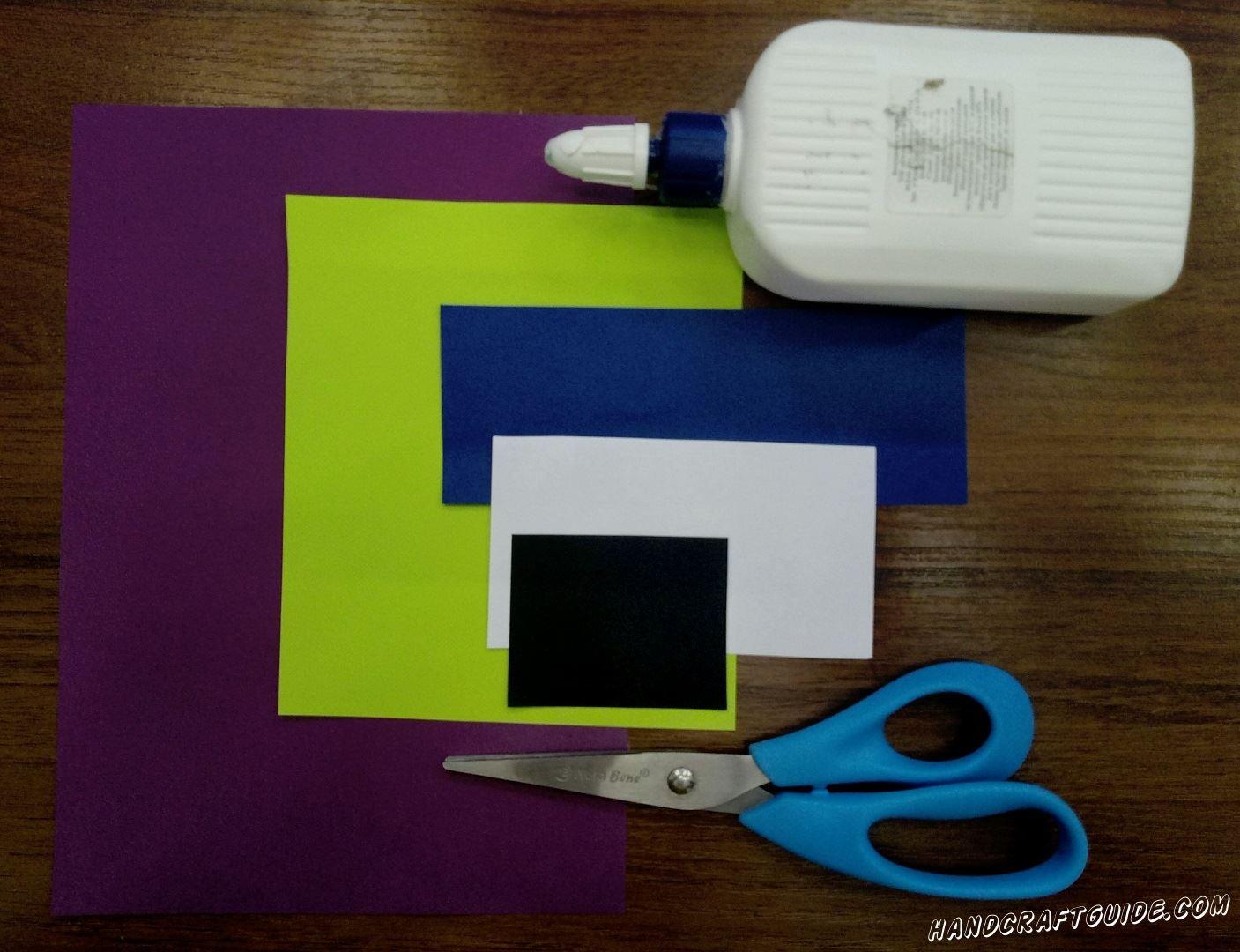 Для выполнения данной поделки нам понадобится: Цветная бумага Ножницы Клей Фломастеры (Карандаши) Фигурные ножницы