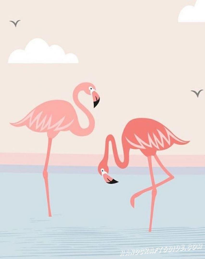 рисунок фламинго для девочек