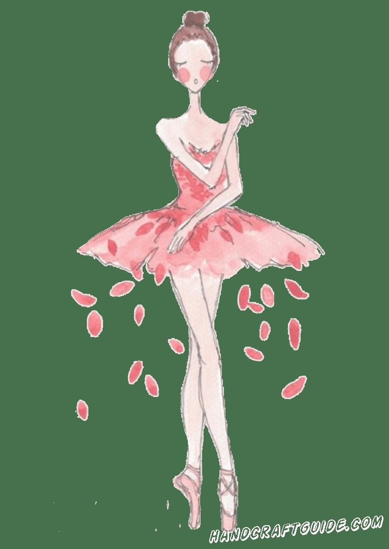 рисунок балерины для срисовки