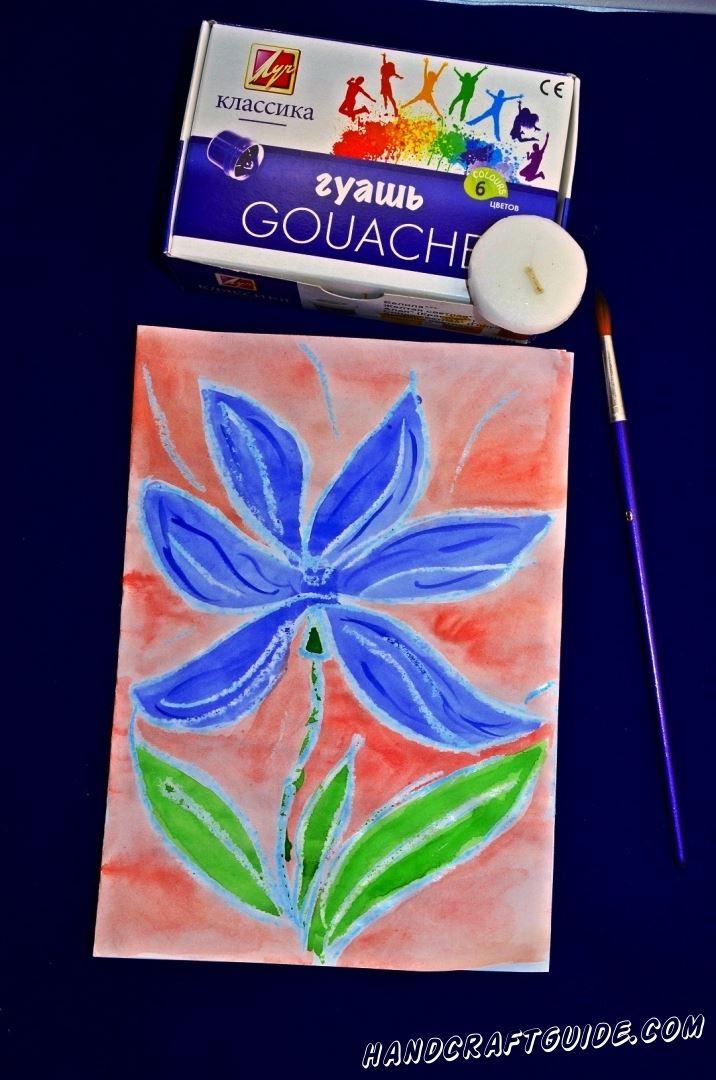 Синий цветок своими руками
