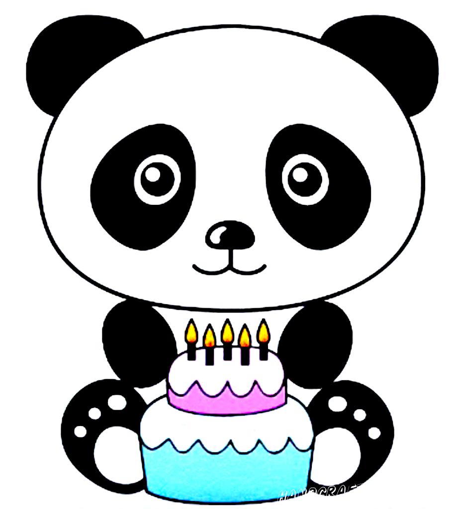 картинка панда для срисовки