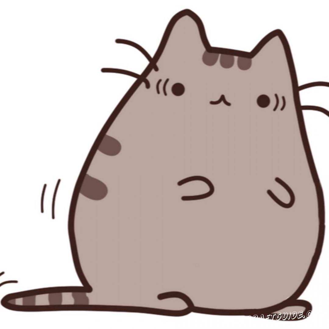кавайный кот для скетчбука