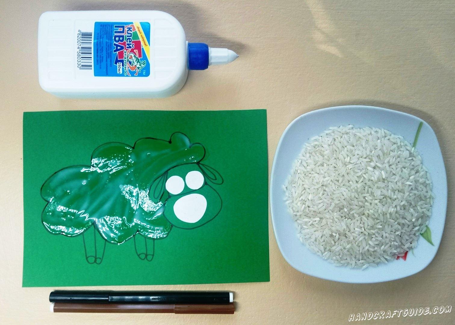 рисовый баран для детей