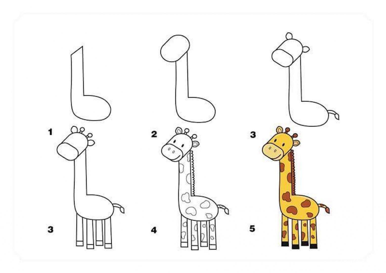 картинка для скетчбука жираф
