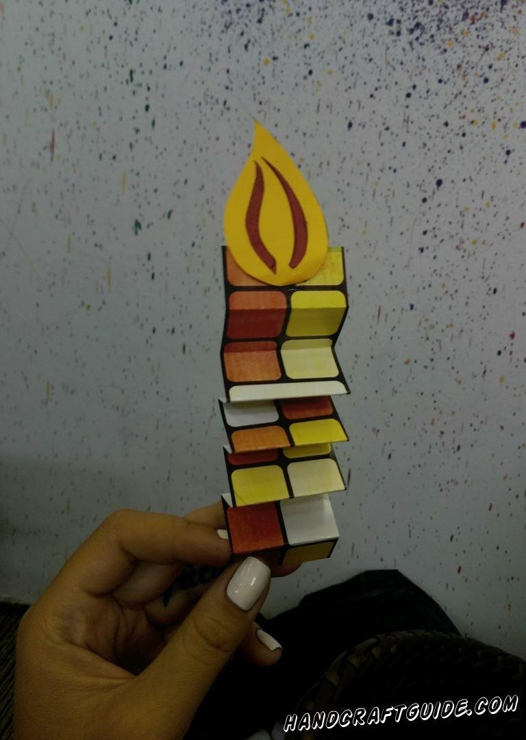 свеча из бумаги на Хеллоуин