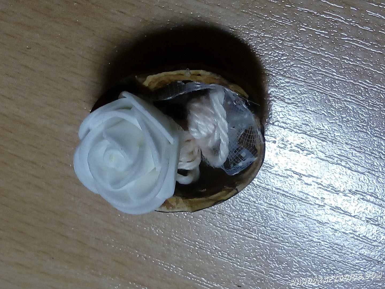 простая поделка из скорлупы ореха
