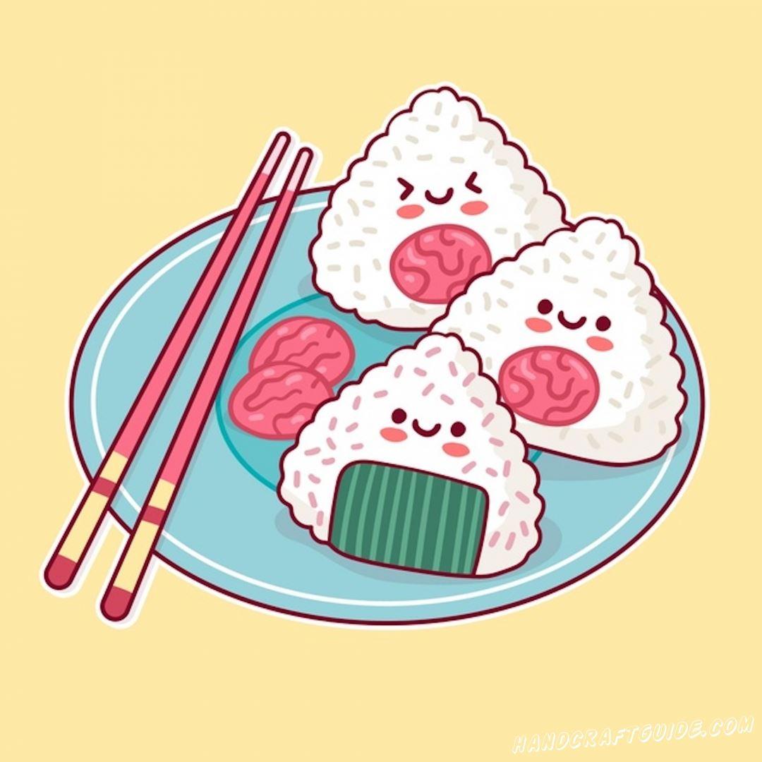 смешные кавайные рисунки еды