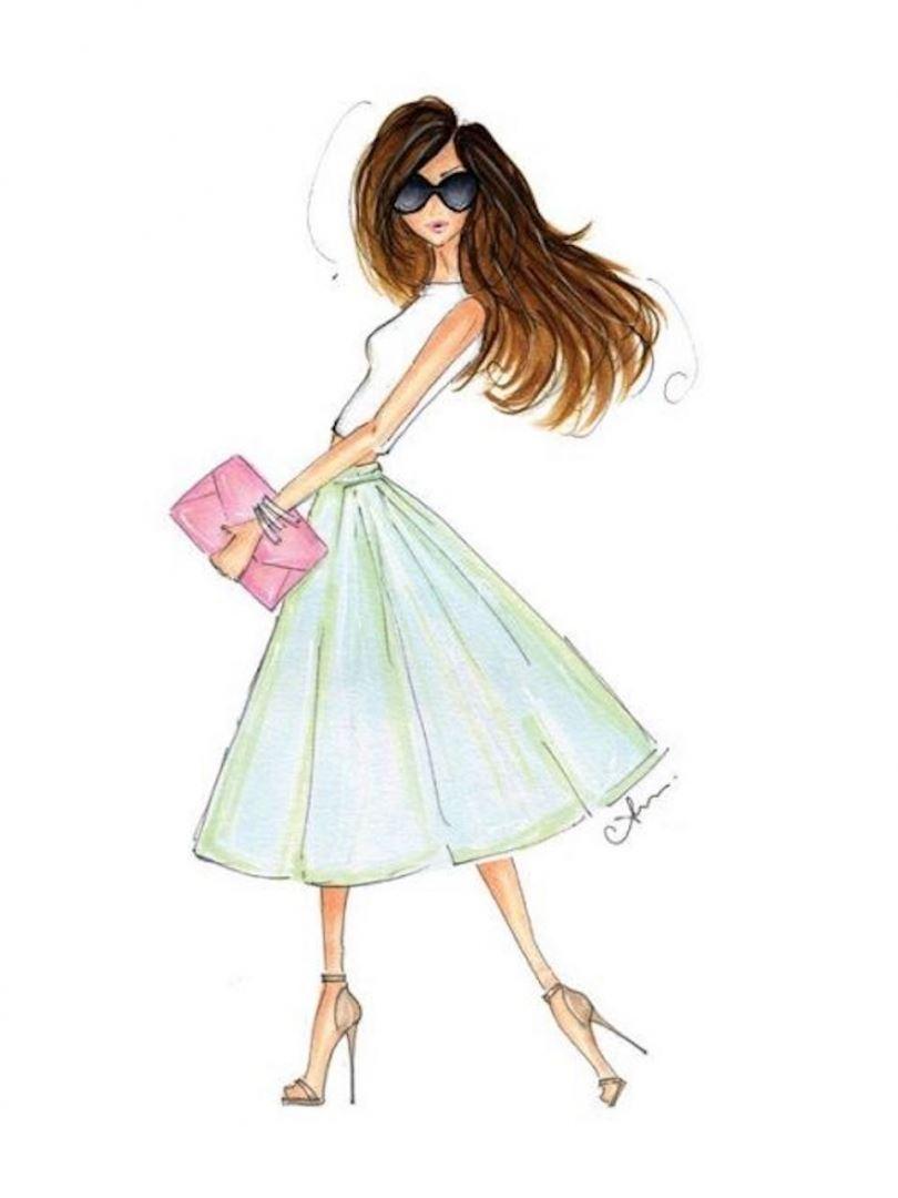 картинка модная девочка