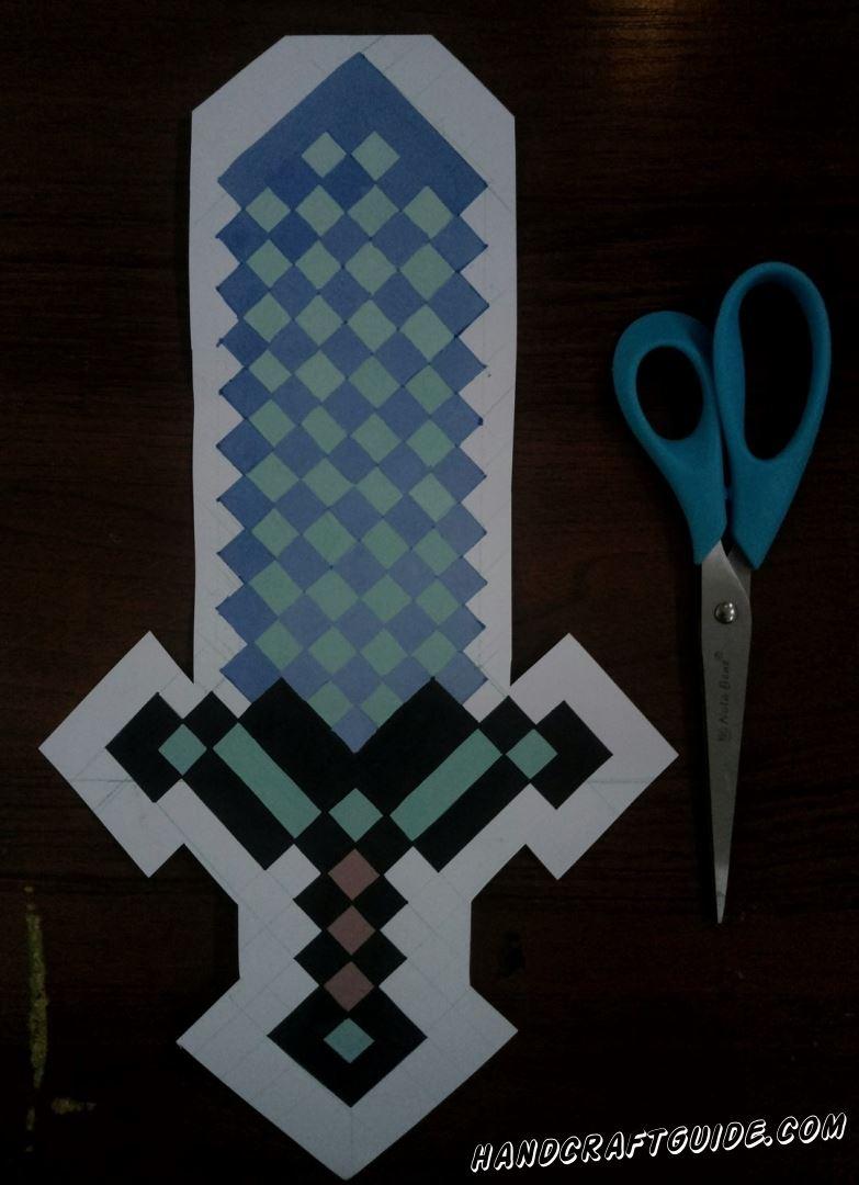 поделка мальчиков меч майнкрафт