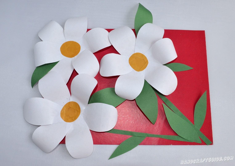 открытка из бумаги цветы своими руками
