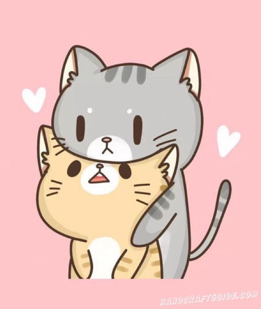милые котики срисовка
