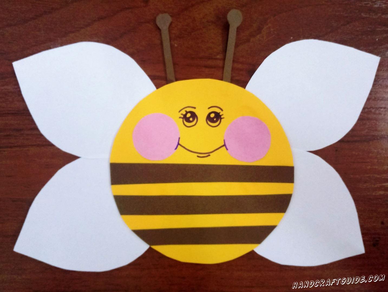 поделка из цветной бумаги пчела
