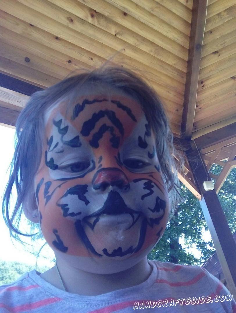 аквагрим на лице тигр