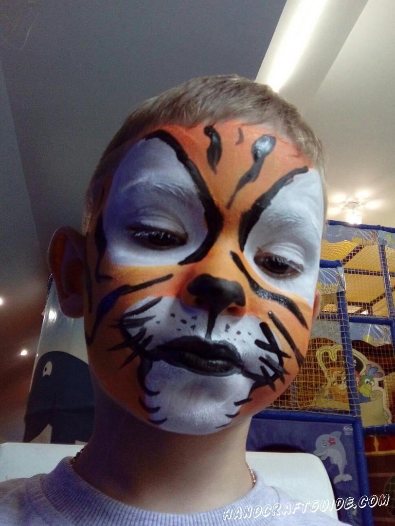 аквагрим для детей тигр