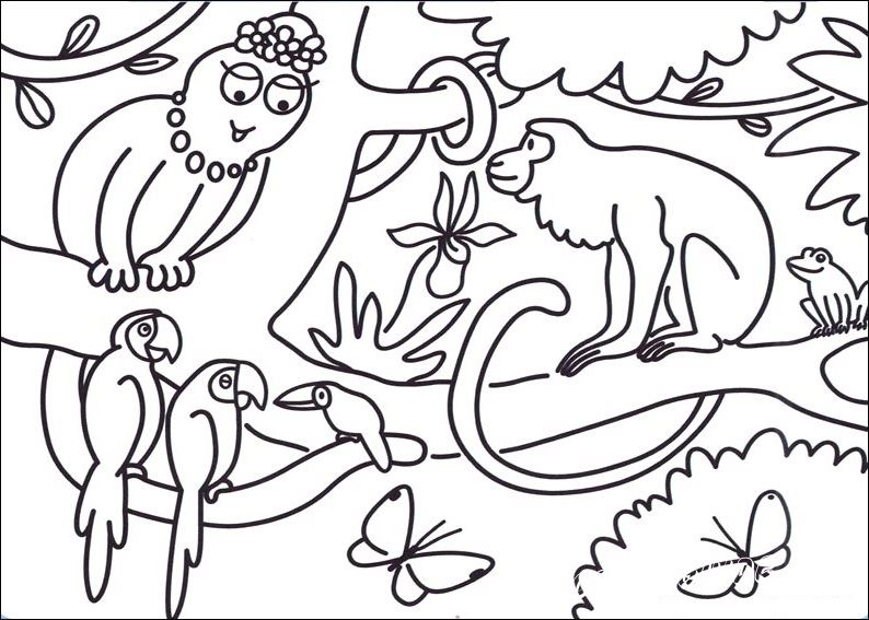 barbapapa  coloring pages cartoons for 4 years kids