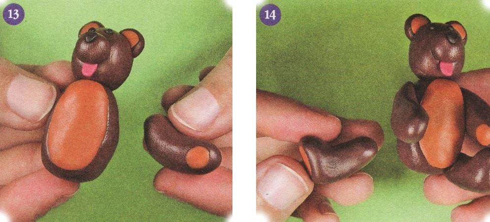 Как сделать из коричневого пластилина 135