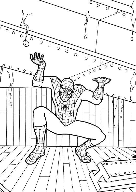 Человек-паук - Раскраски, Герои Комиксов, для детей от 5 ...