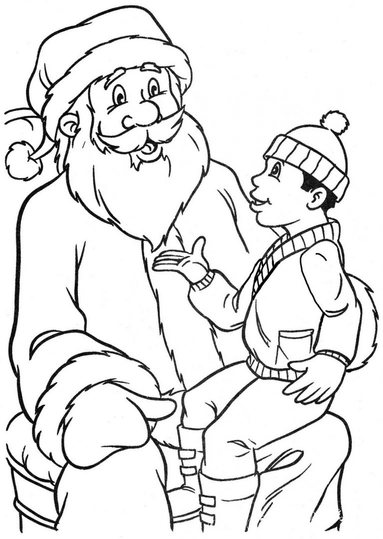 The collection of coloring pages for children with the image of Christmas