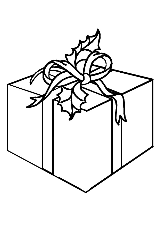 раскраски подарок
