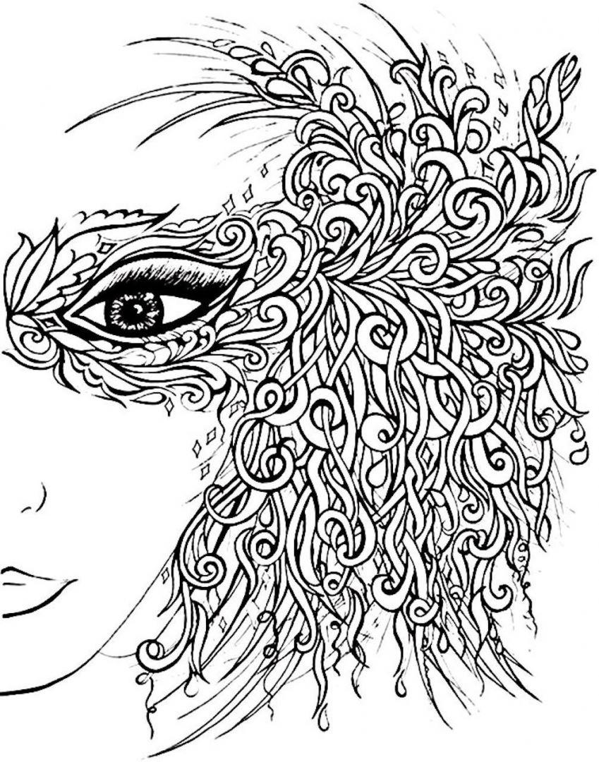 Раскраски антистресс девушка