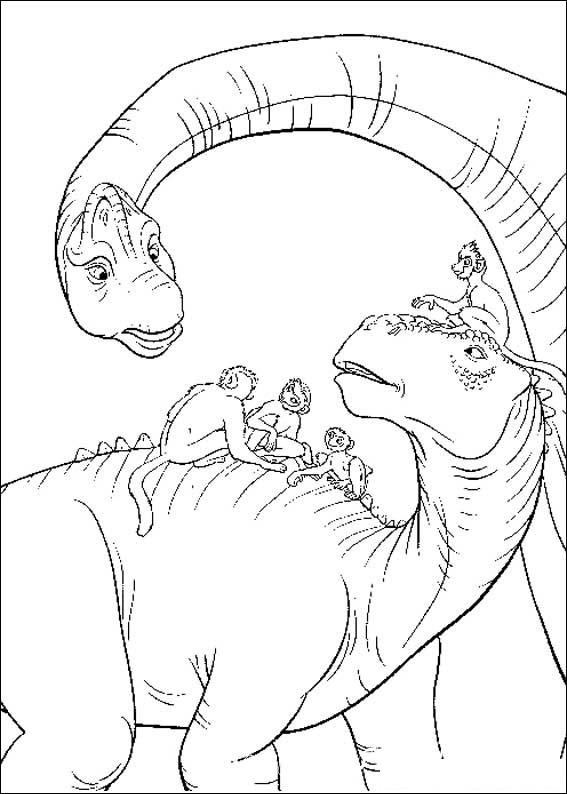 раскраски динозавры распечатать