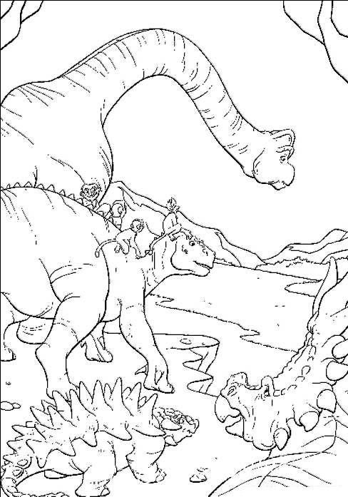 раскраски динозавры для печати
