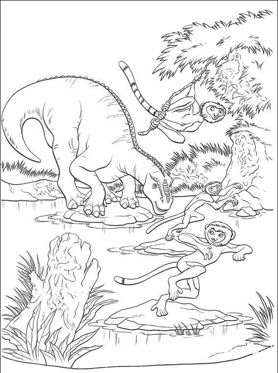 раскраски из мультика динозавр