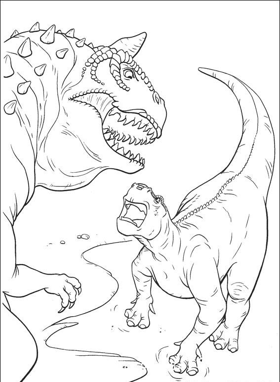 Динозавр. Часть 3 - Раскраски, Мир Динозавров, для детей ...