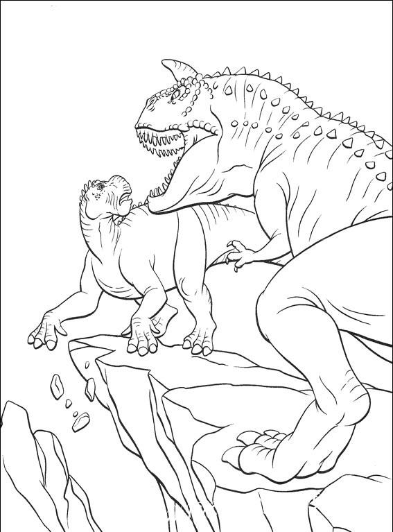 распечатать раскраски динозавры