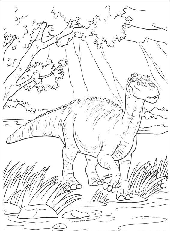 раскраски детям динозавры