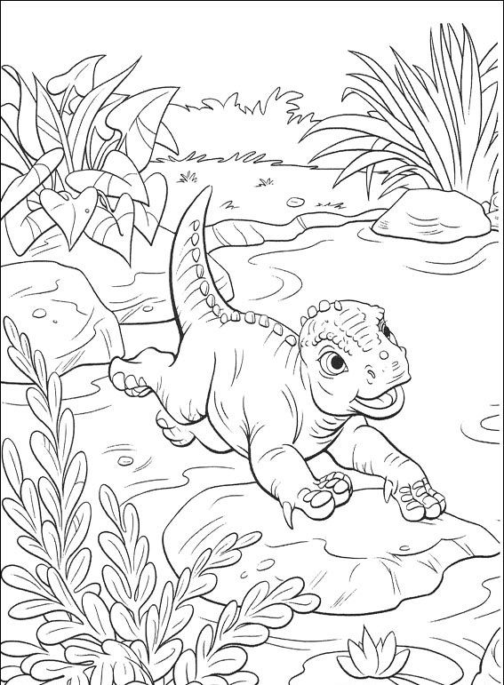 раскраска динозавр дино