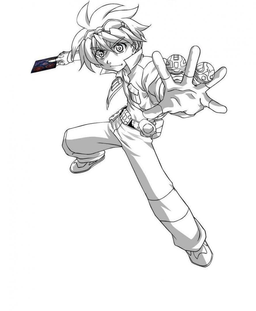 аниме раскраска для мальчиков