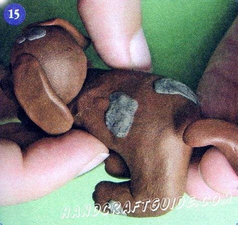 пластилиновая собачка своими руками для детей