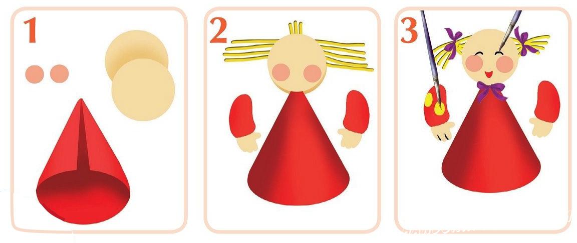 Сделать куклу из бумаги своими руками 22