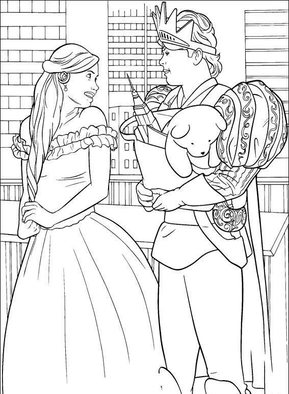 раскраски принц и принцесса