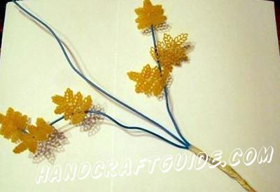 как сделать цветы из макарон