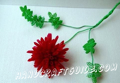 детская поделка цветы из макарон